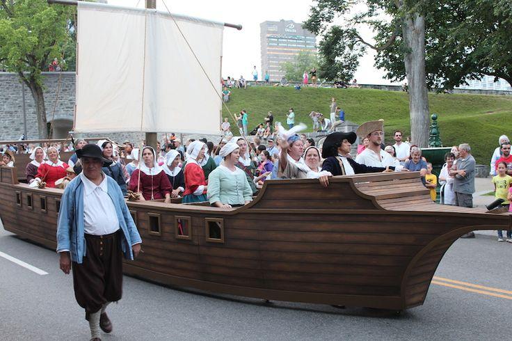 Défilé des fêtes de la Nouvelle-France 2014, Québec, QC, Canada