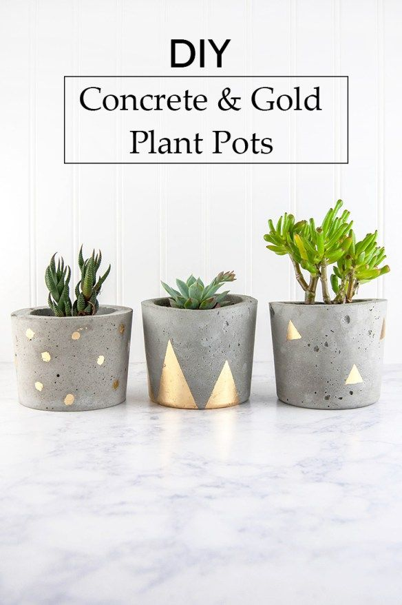 Best Concrete Pots Ideas On Pinterest Concrete Planters Diy - Diy two tone painted pots