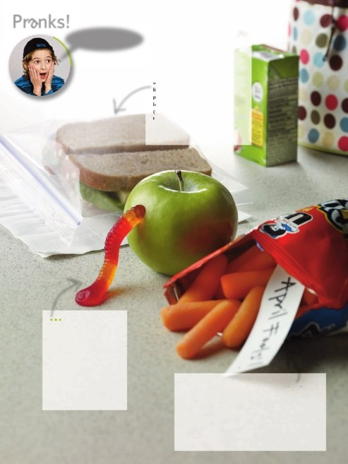 Wormy Apple and Snack Switcheroo Prank..April Fool's Pranks from Family Fun magazine. Several Pages worth of pranks at the link.