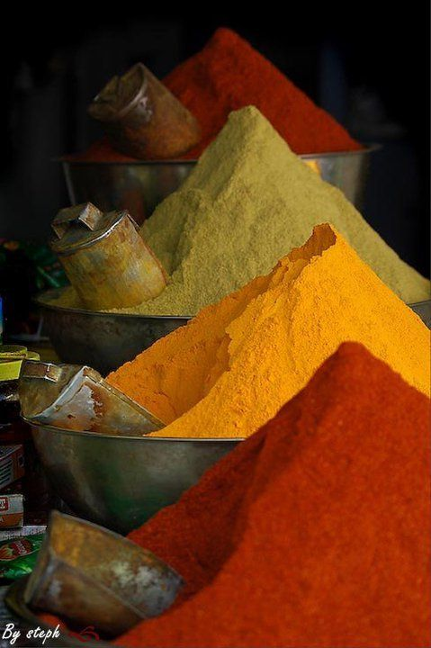 Moroccan spice market- @Jenny do you remember the summer we spent packing spices? Can you smell it right now just looking at the picture?!