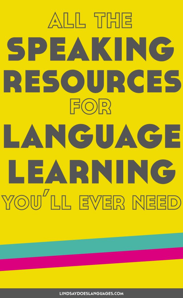All The Speaking Resources for Language Learning Youll Ever Need