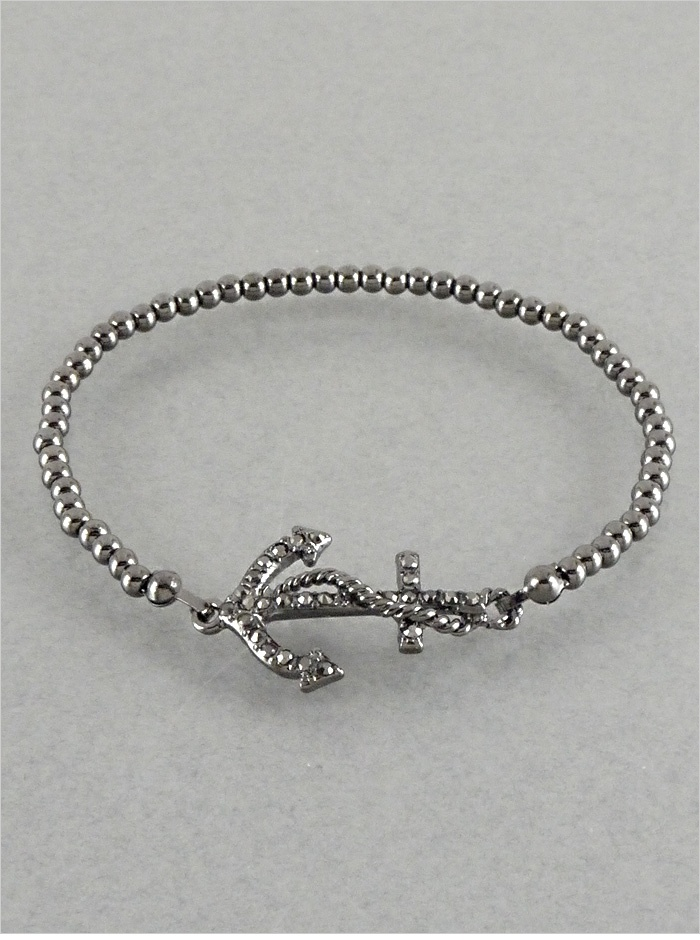 Crystal Anchored Bracelet