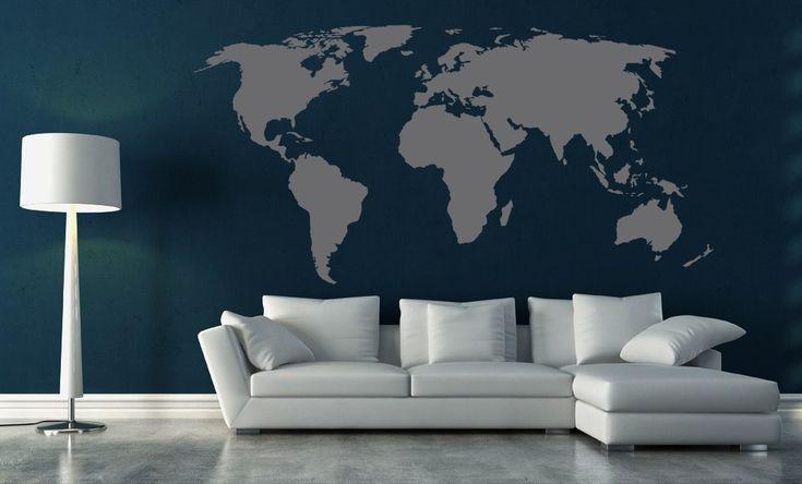 Mondo > Collezione Oggetti #wallstickers #mycollection #room #colour #design #home #office #living #stuff #mappamondo #world #map