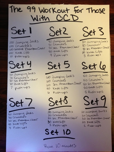 A Little Bit of Life: The 99 Workout for those with OCD