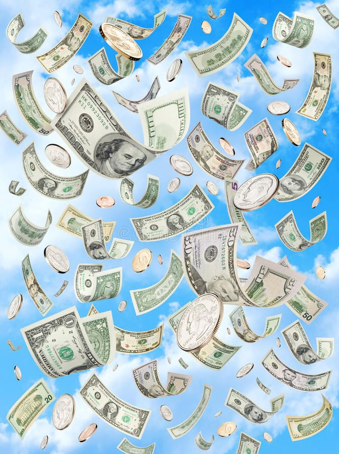 Raining Falling Money Sky Dollars American Money Raining Down Or Falling With A Sponsored Sky Dollars Ameri Money Pictures Money Poster Dollar Stocks
