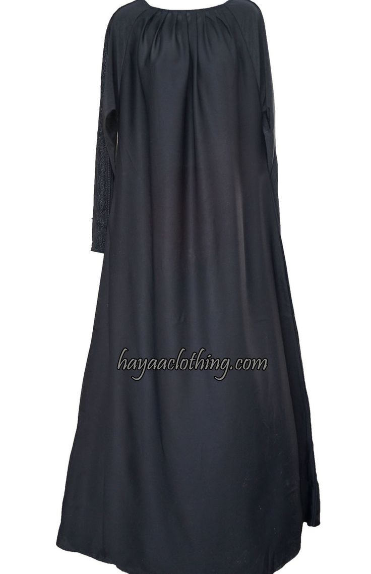 Hayaa Clothing - Salma Pleated neck Black Abaya   Hijab, $59.99 (http://www.hayaaclothing.com/salma-pleated-neck-black-abaya-hijab/)