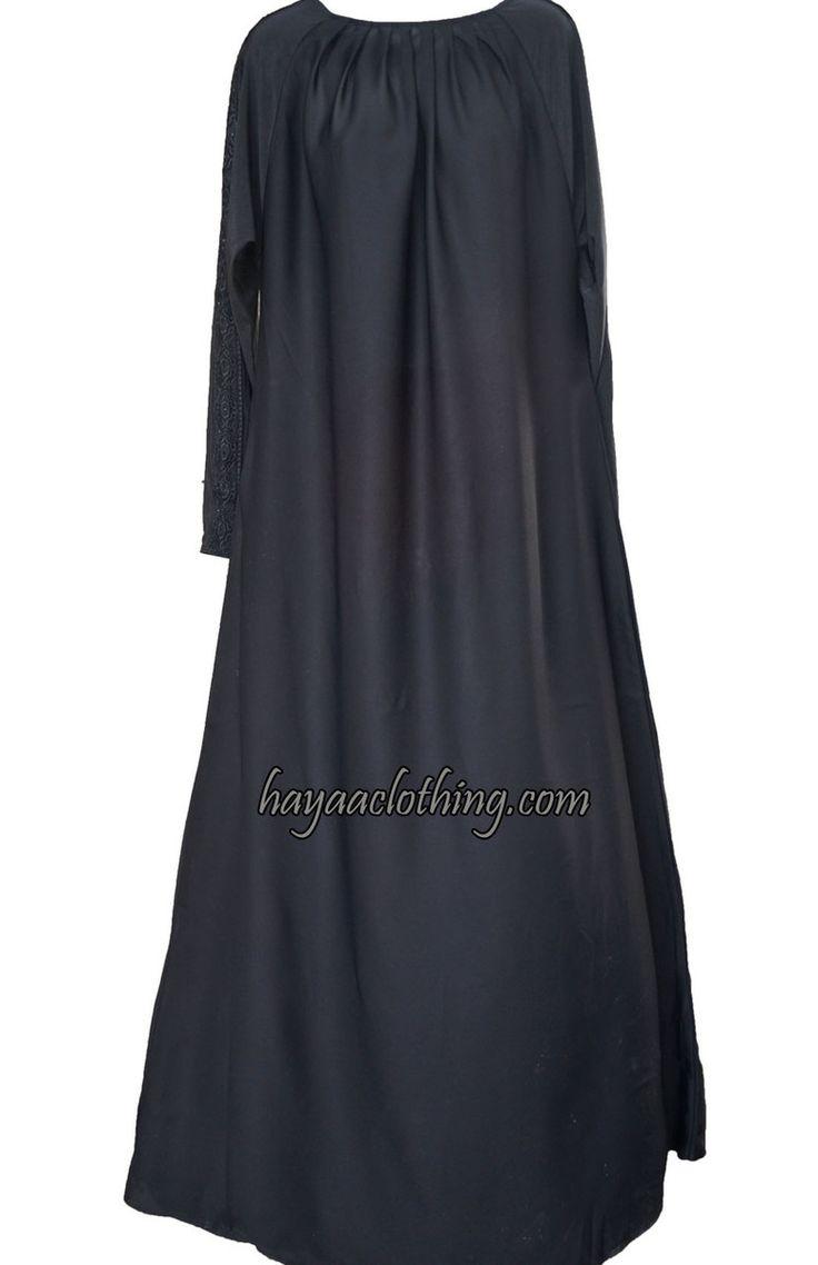 Hayaa Clothing - Salma Pleated neck Black Abaya Hijab, $59.99 (http://www.hayaaclothing.com/salma-pleated-neck-black-abaya-hijab/)