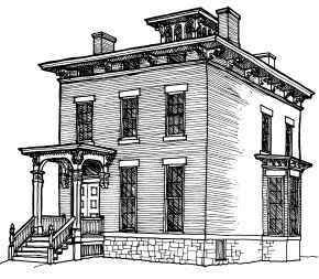 Italianate architecture broad eaves arched porticos for Victorian italianate house plans