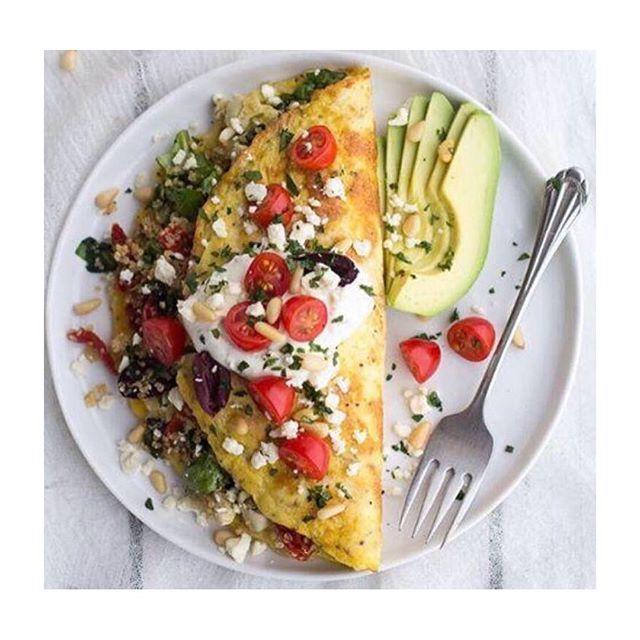 Śniadanie białkowo - tłuszczowe  omlet ze szpinakiem i awokado - przepis na blogu www.annalewandowska.com #recipe #omlette #breakfast #healthyeating #healthyblog #blog #healthy#AnnaLewandowska