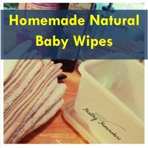 homemade natural baby wipes, organic baby