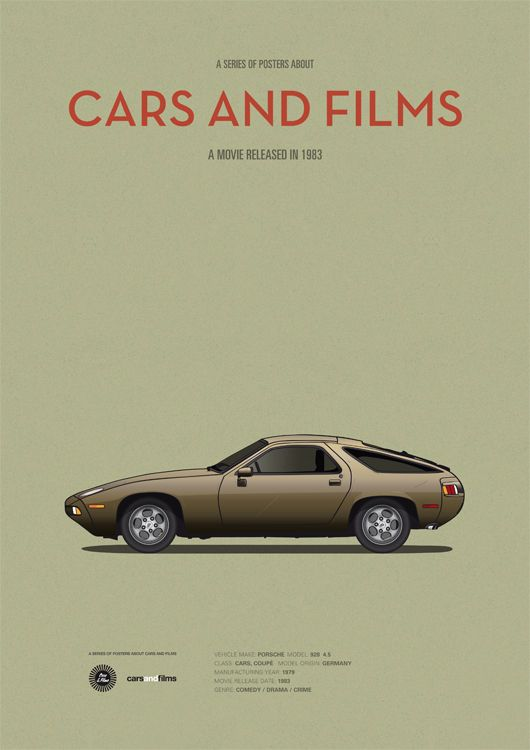 Poster of the car of Risky Business. Illustration Jesús Prudencio. Cars And Films