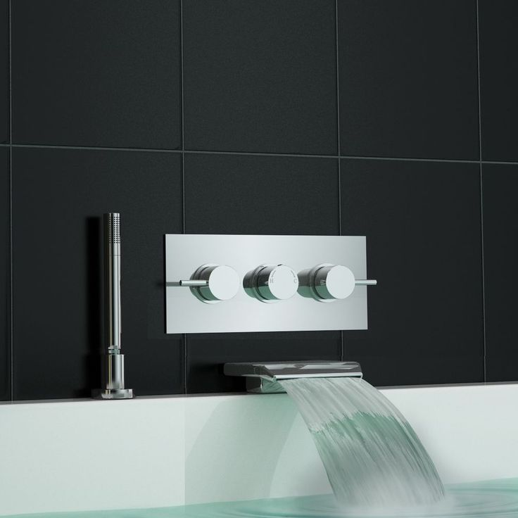 Concealed Wall Mounted Thermostatic Mixer Waterfall Bath Shower Tap | eBay