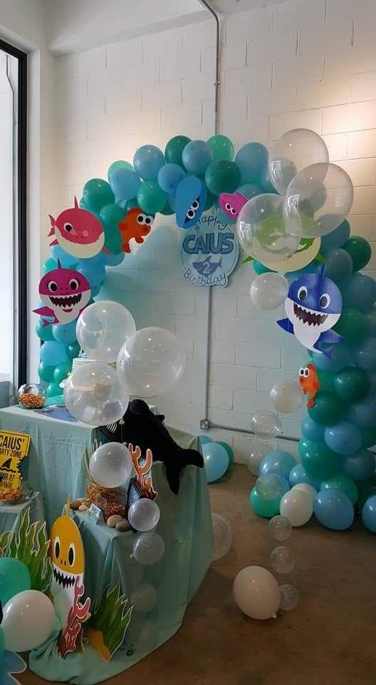 Baby Shark party Shark themed birthday party Shark