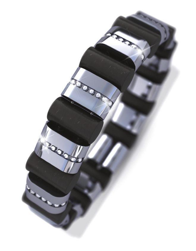 tipit Pure- diamond, steel and ebony bracelet