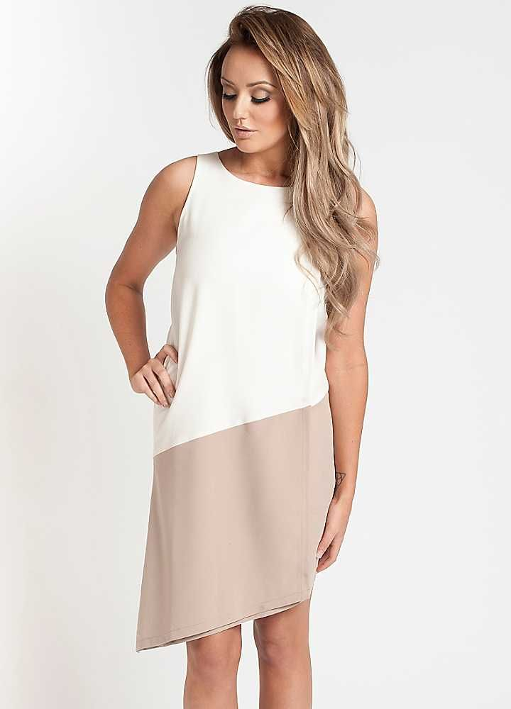 Charlotte Crosby Contrast Layered Shift Dress by Nostalgia