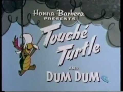 Be sure to check our forum, www.cartoons-forum.org    Info about Touché Turtle and Dum Dum (1962):    Touché Turtle and Dum Dum (pronounced too-shay turtle) is one of the segments from The New Hanna-Barbera Cartoon Series, produced by Hanna-Barbera in 1962. This show was originally on the The New Hanna-Barbera Cartoon Series along with Wally Gat...