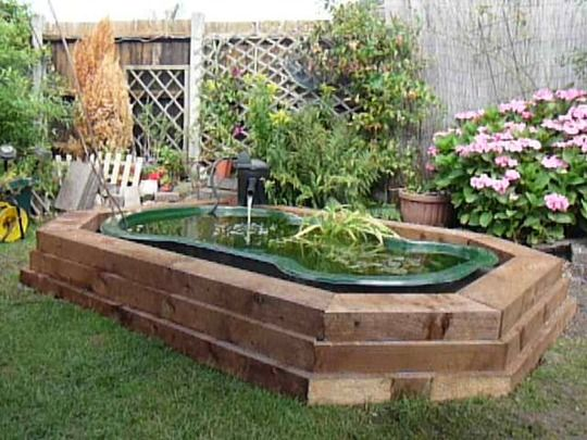 17 best images about pond on pinterest raised beds for Raised garden pond designs