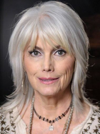 Silver Lady Shoulder Length Layered Synthetic Wigs