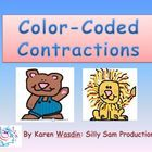 This Color-Coded PowerPoint slideshow with Printable Worksheets for students can be used as an overhead presentation to demonstrate how contractions are created from two words and visa v...