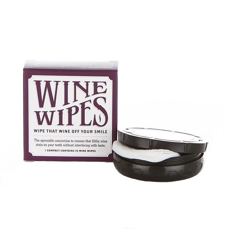 Wipe that wine off yo teefs and lips. I can't be the only one with this problem :-)  Borracha Wine Wipes Compact, $7.95 #birchbox
