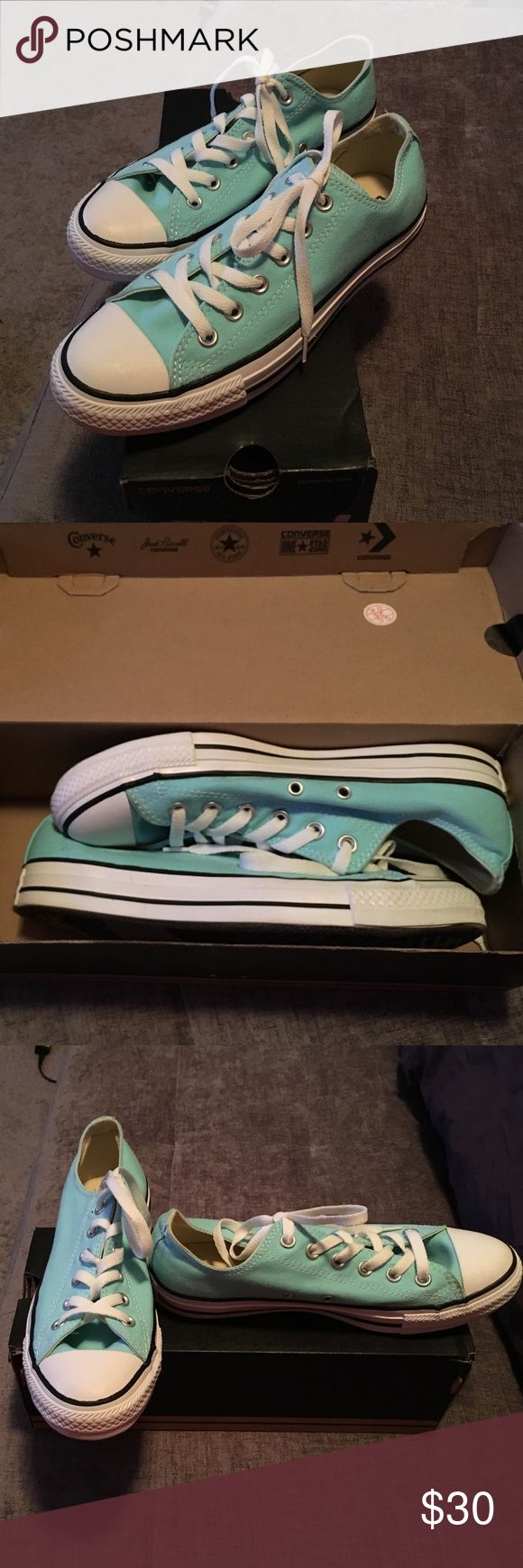 Converse Chuck Taylor Allstar. Classic Low Top Sneaker in Pale Blue.  Size 9 Women's, Size 7 Men's.  Worn once. Converse Shoes Sneakers
