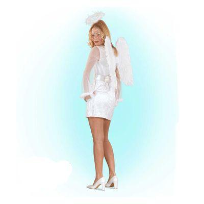 Engel kostuum voor dames. Wit engel kostuum, bestaande uit een jurkje en riem. In deze webshop kunt u ook terecht voor leuke accessoires bij uw engel kostuum!