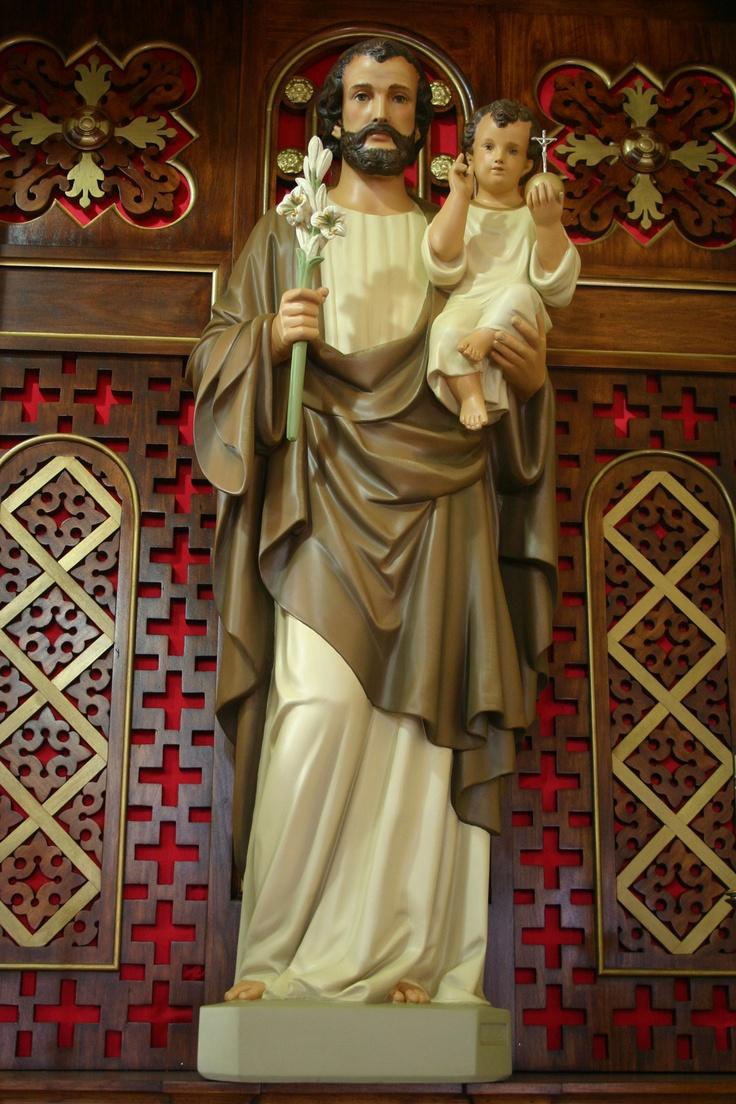 Statue of St Joseph Restored