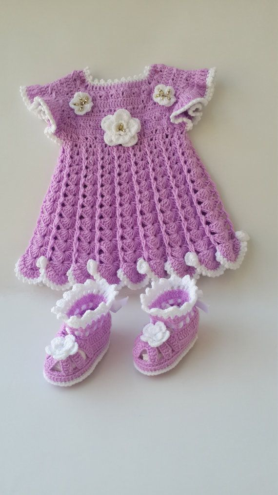 Baby Dress Crochet Girl Outfit