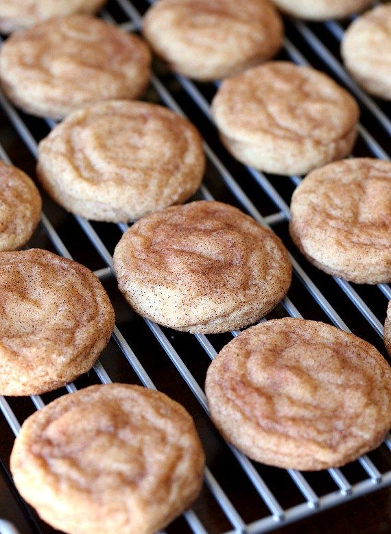 The SUper Soft Snickerdoodle Cookies are PERFECT! These cookies are buttery, loaded with cinnamon and can be made QUICK! No chilling the dough necessary!