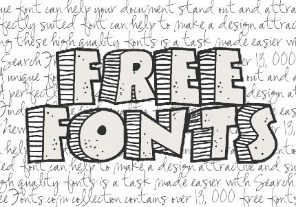 Over 13,000 Free Fonts in One Place