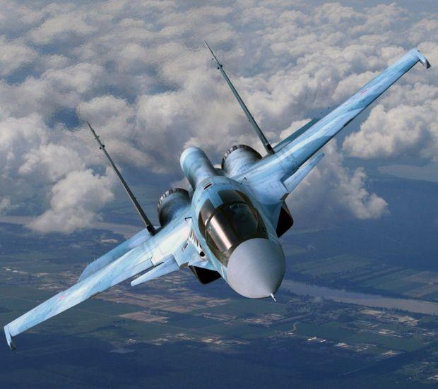 """Sukhoi Su34 """"Fullback"""" fighter bomber."""