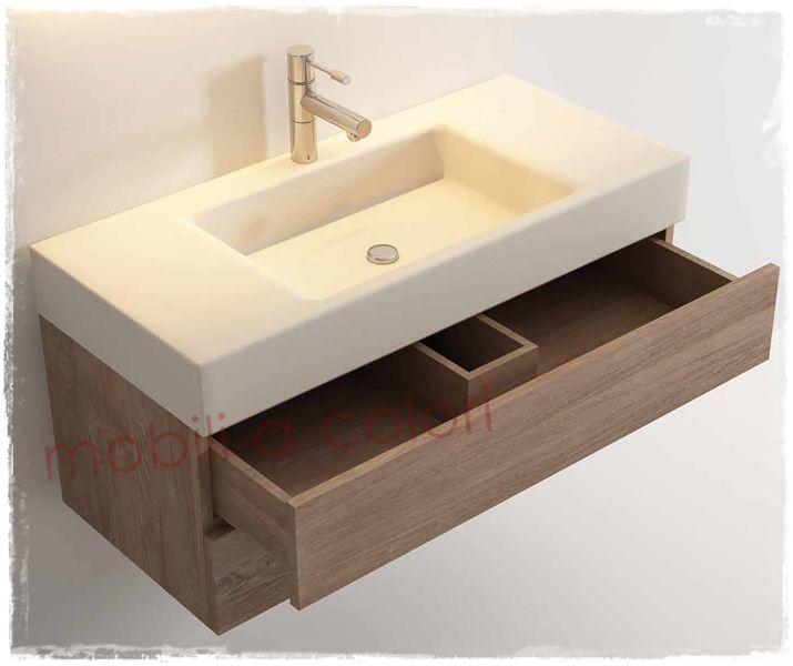 Mobile bagno moderno in teak massello arredo bagno - Mobile bagno teak ...