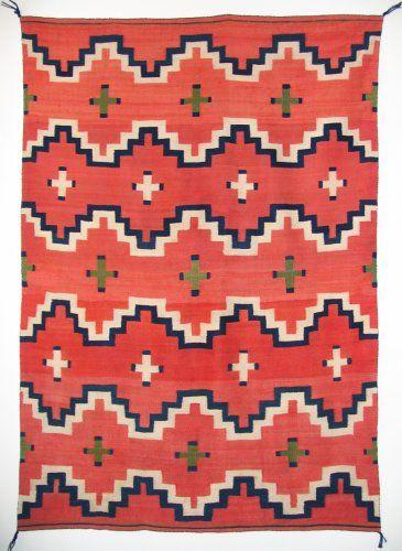 Classic Navajo blanket w/ crosses c. 1875