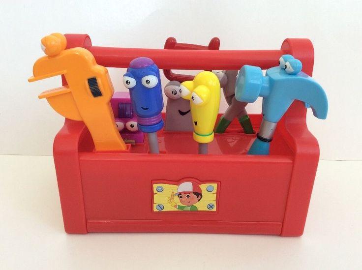 Handy Manny Toolbox Tools Dancing Talking Singing 2007 Mattel Red Toy SEE VIDEO #Mattel