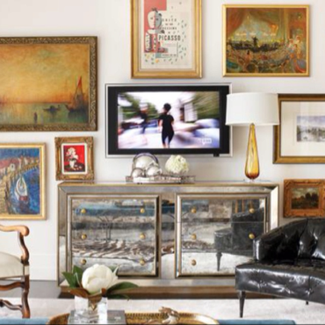 Gallery Wall With Tv Console