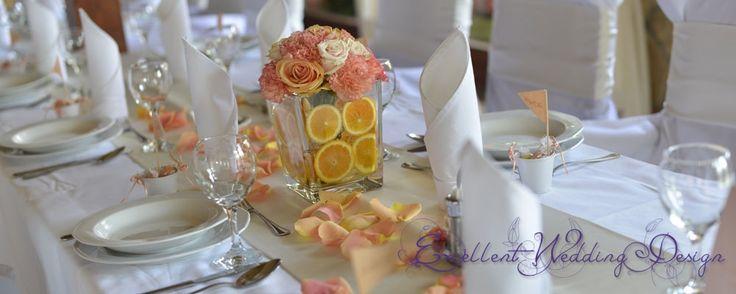 Esküvői dekoráció-narancs esküvői dekoráció, sárga esküvői dekoráció