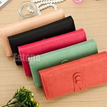 Free Shipping Women Ladies Leather Card Holder Case Wallet Long Clutch Button…