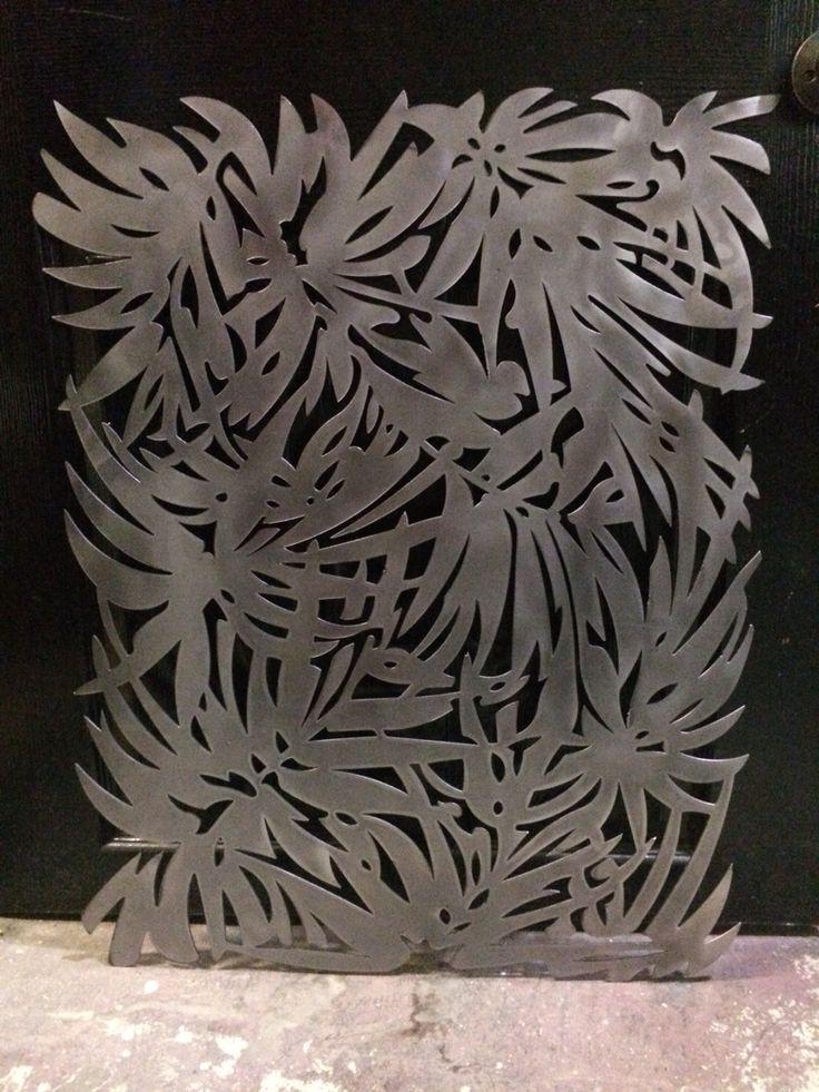 Metal laser cut panel