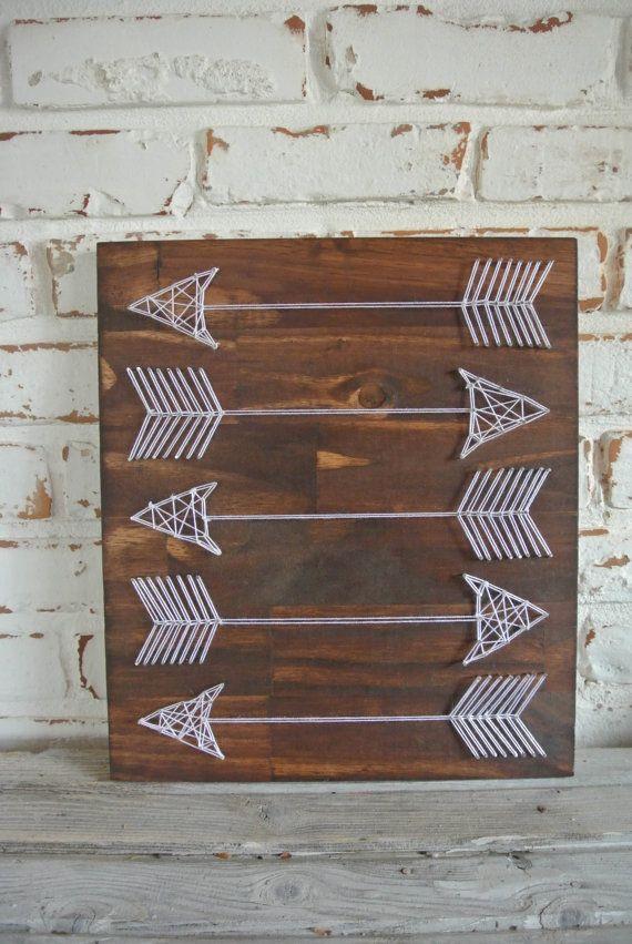 [DIY déco] un tableau de flèches d'indiens en tressage de fils