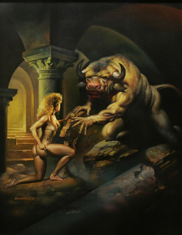 Ariadna y su hermano el Minotauro
