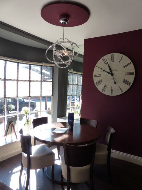 Clock Lighting And Sheers For Windows In Kai Fabric Supplied By Smb Interiors