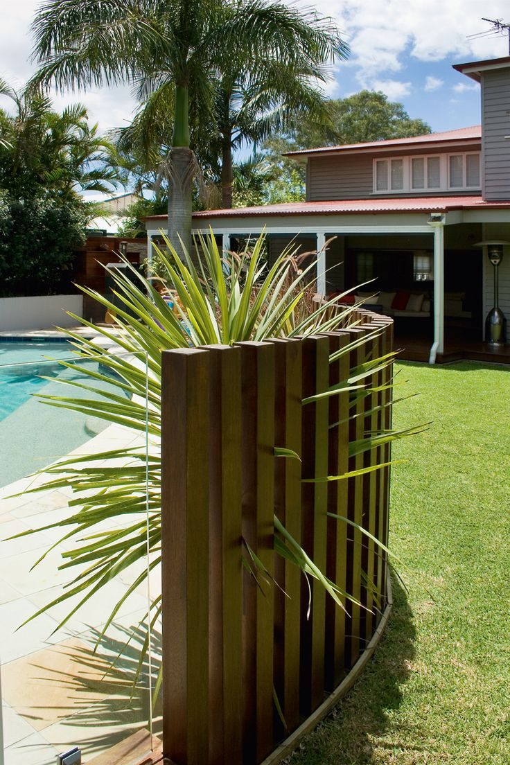 Timber & Glass pool fence