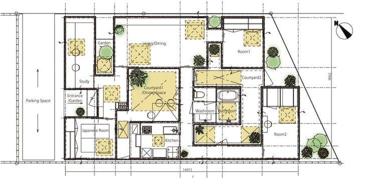 17 best images about japanese home plans on pinterest for Small japanese house design in tokyo by architect yasuhiro yamashita