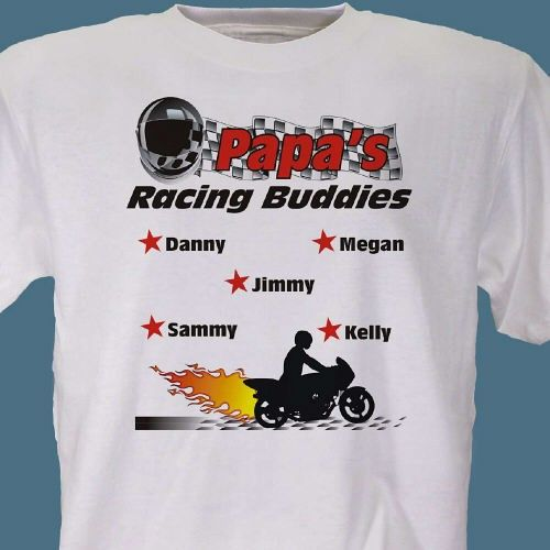 Racing buddies personalized motorcycle racing t shirts for Custom racing t shirts