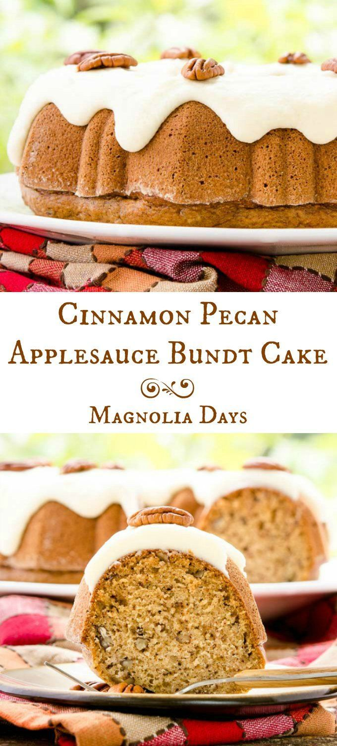 Old Fashioned Applesauce Bundt Cake Recipe
