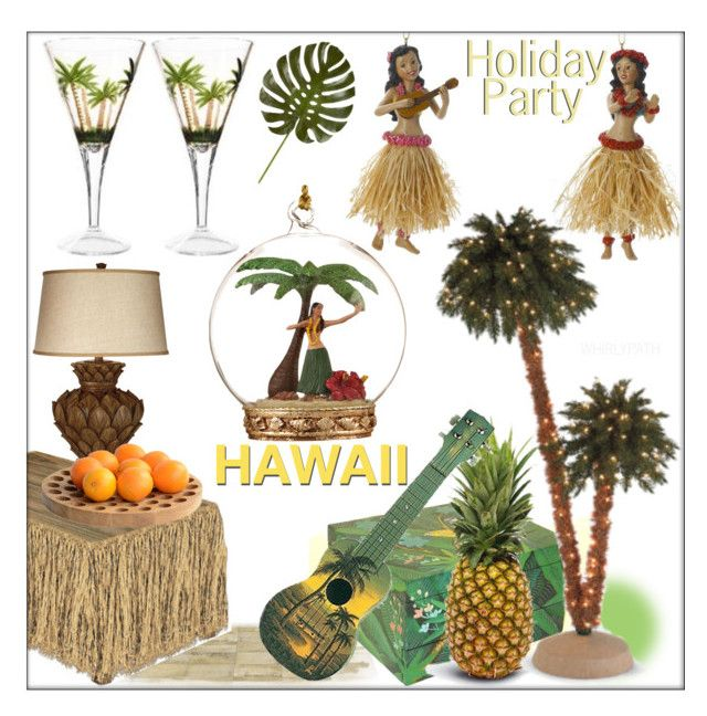 Holiday Party Hawaii! by whirlypath on Polyvore featuring interior, interiors, interior design, home, home decor, interior decorating, Universal Lighting and Decor, .wireworks, jcp and Wayborn