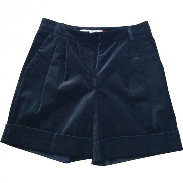 Pre-owned Jc De Castelbajac Shorts (1,290 MXN) ❤ liked on Polyvore featuring shorts, bottoms, clothes - shorts, jc de castelbajac and velour shorts