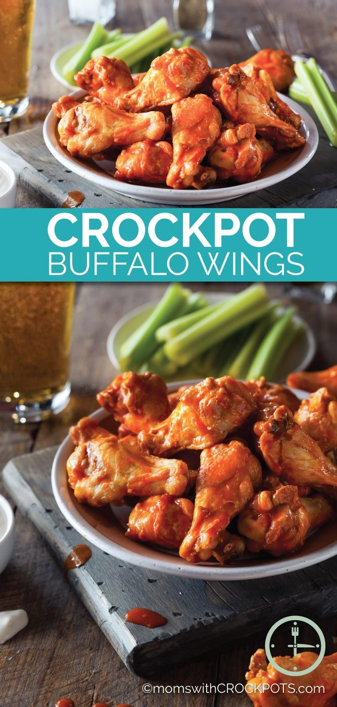 Game Day or any day is a perfect time to make this Crockpot Buffalo Wings Recipe! Full of flavor, less mess, and convenient!