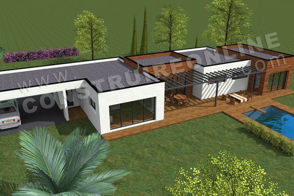 maison jumelé plan - Recherche Google résidence maisons Pinterest - plan de maison avec etage gratuit
