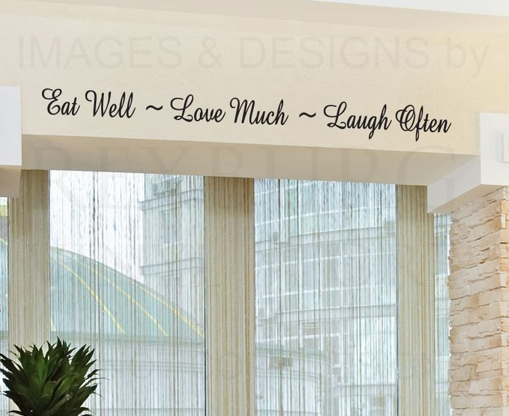Eat Well Love Much Laugh Often Kitchen Dining Room Mom Family Quote Sticker Graphic Art Letters Decor Vinyl Saying Wall Lettering Decal